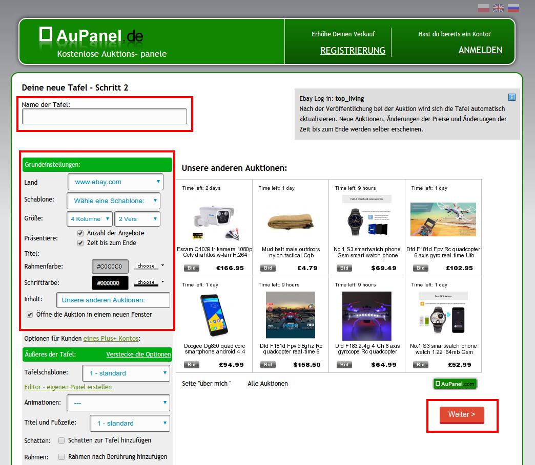 Wie Einen Ebay Panel Erstellen